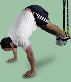 hanging pushup - advanced fitness routine